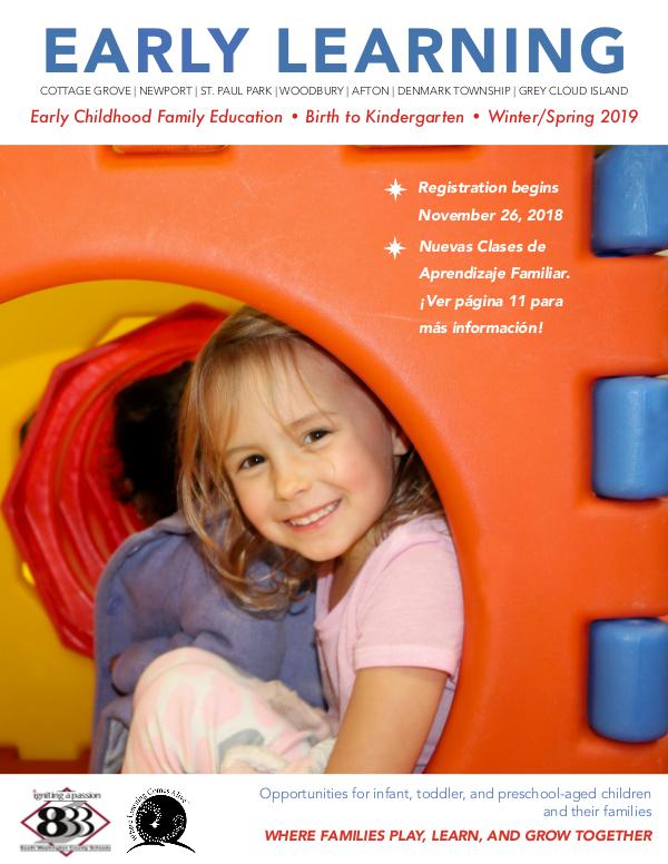 Early Childhood Family Education, Winter/Spring 2019 Winter/Spring 2019