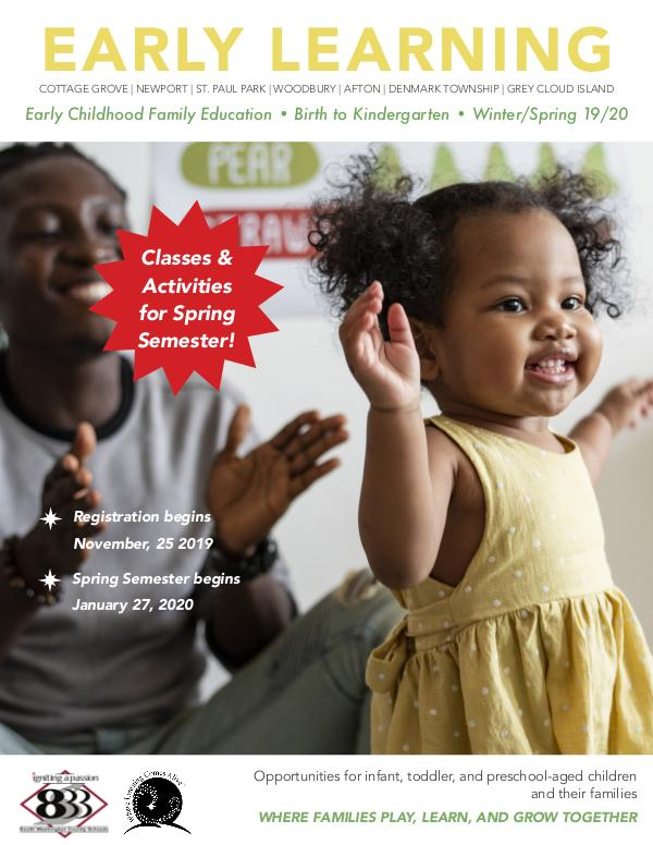 Early Learning's ECFE Fall 2019 Catalog ECFE Catalog_UPDATE for WS_FINAL
