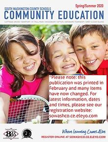 South Washington County School Community Education Spring/Summer 2020