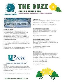 Senior Center Newsletter, March-April 2020