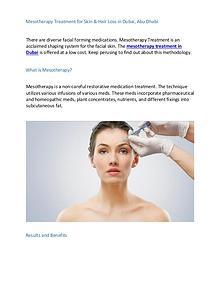 Mesotherapy Treatment Dubai Abu Dhabi