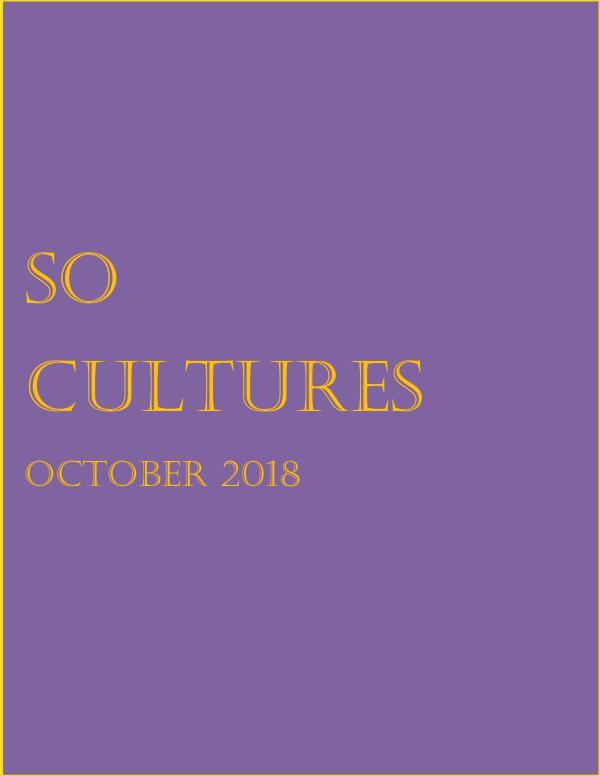 SoCultures Magazine 2018 Vol 1