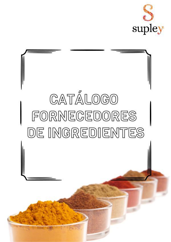 Catálogo de Ingredientes Supley Catálogos de Fornecedores Supley