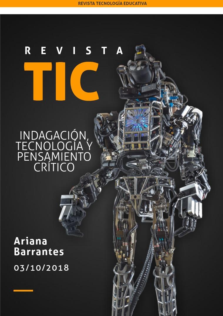 Indagación,  tecnología y pensamiento crítico Indagación, tecnología y pensamiento crítico