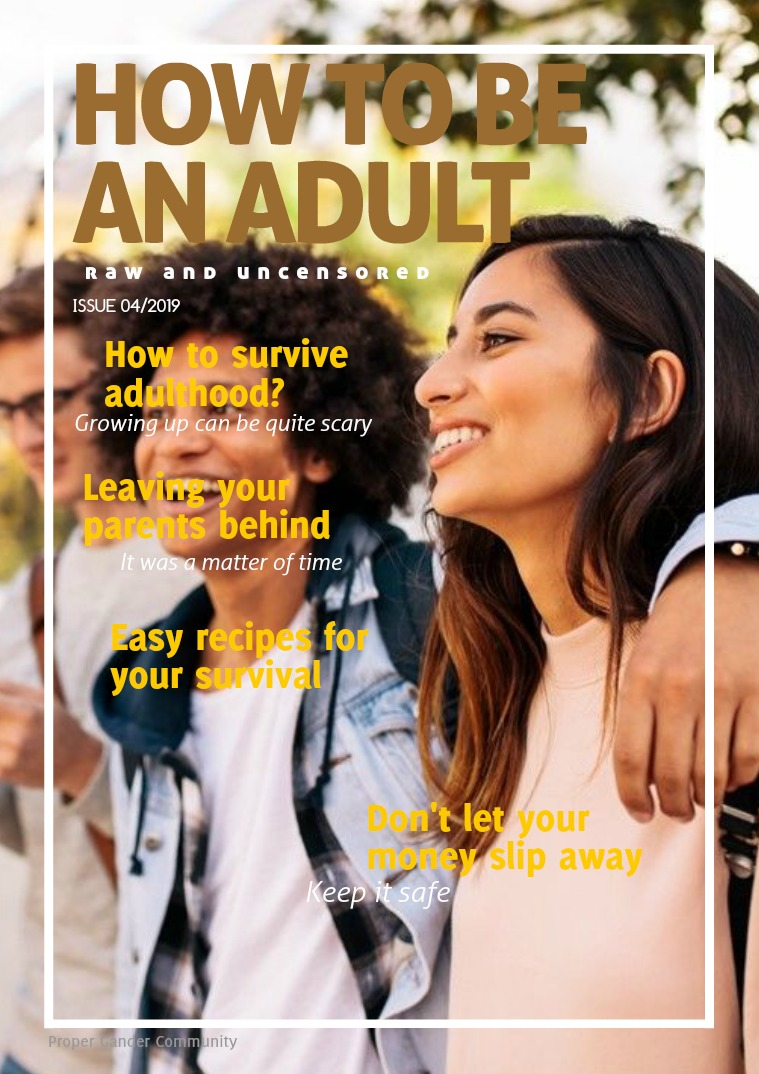 How to be an Adult How to be an Adult