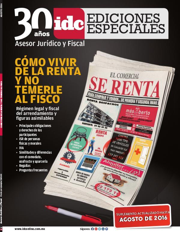 IDC Ediciones Especiales Cómo vivir de la renta - 2016