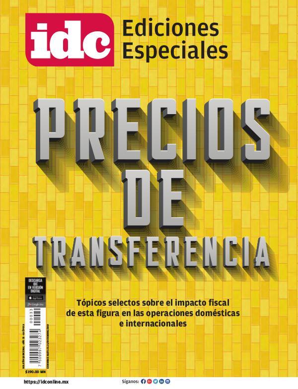 PRECIOS DE TRANSFERENCIA Octubre 2019