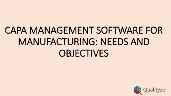 Corrective Action Preventive Action Software CAPA management software