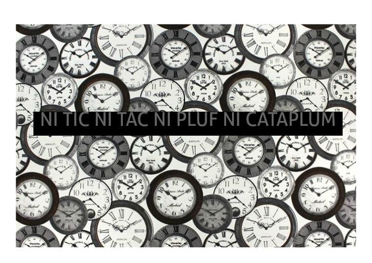NI TIC, NI TAC, NI PLUF, NI CATAPLUM 15 OCTUBRE 2018