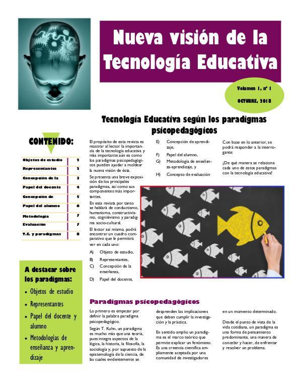 Nueva visión de la tecnología educativa 02085 - U2 Revista digital