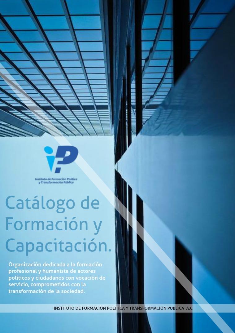 Catálogo del Instituto de Formación Política. 2- Catálogo de Formación Edición Noviembre 2018