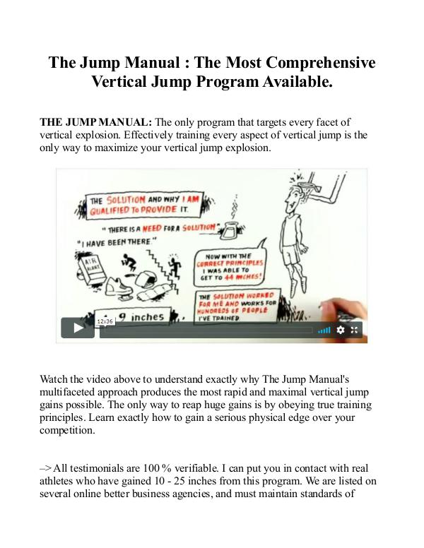 The Jump Manual Free Download EBook-PDF | Jacob Hiller The Jump Manual Free Download EBook-PDF | Jacob Hi