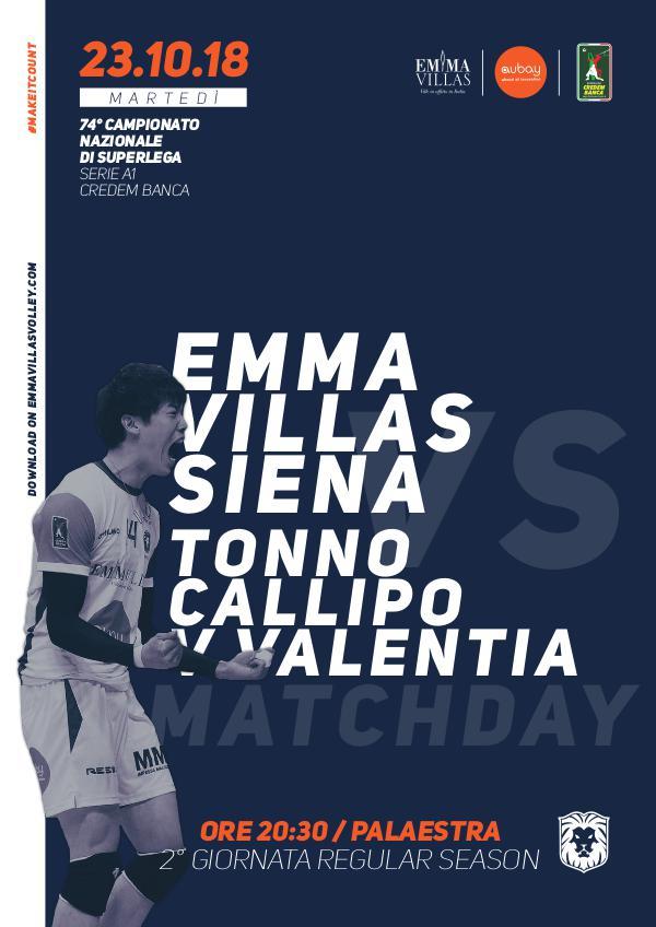 2 - Match Program Emma Villas Siena 2018/2019