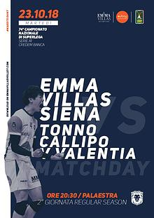 Match Program Emma Villas Siena 2018/2019