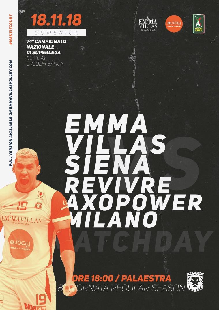 8 - Match Program Emma Villas Siena 2018/2019