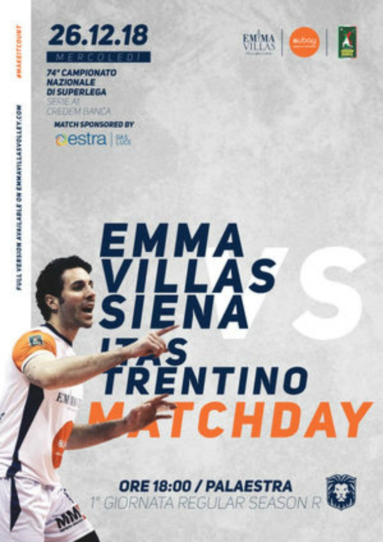 Match Program Emma Villas Siena 2018/2019 1R - Match Program Emma Villas Siena 2018/2019