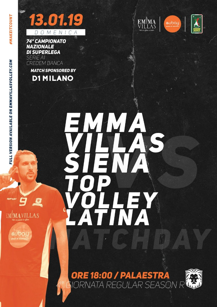 Match Program Emma Villas Siena 2018/2019 4R - Match Program Emma Villas Siena 2018/2019