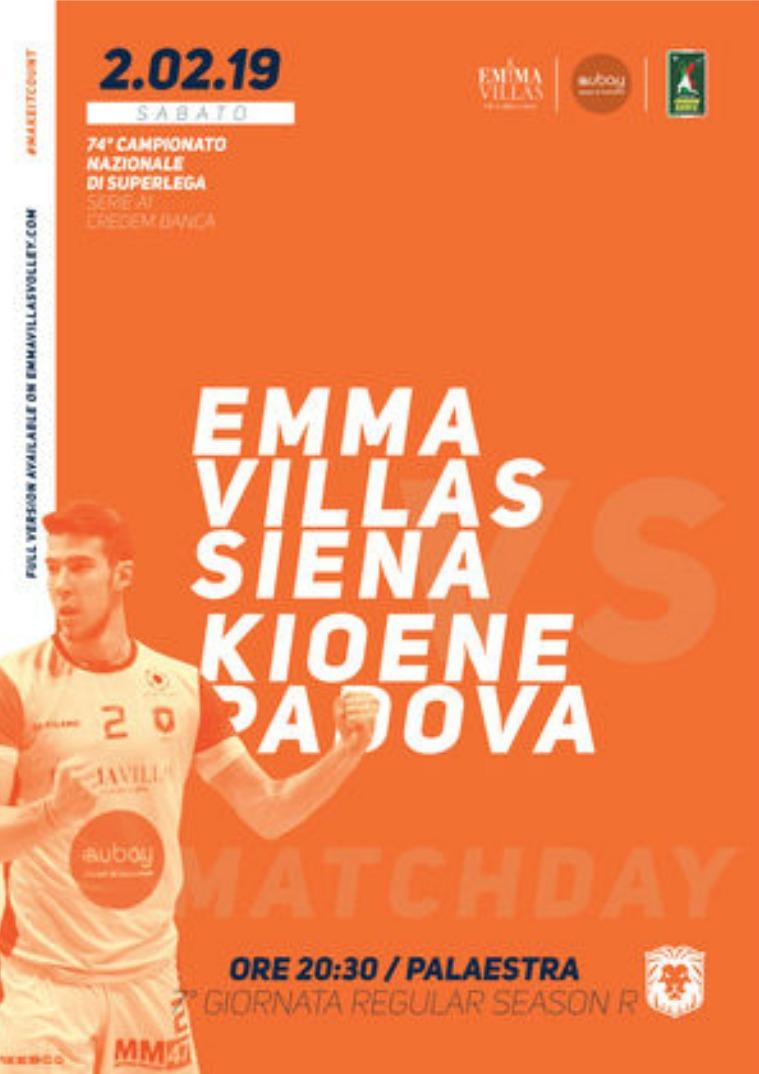 Match Program Emma Villas Siena 2018/2019 7R - Match Program Emma Villas Siena 2018/2019