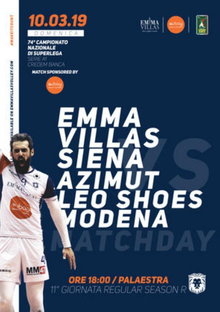 11R - Match Program Emma Villas Siena 2018/2019