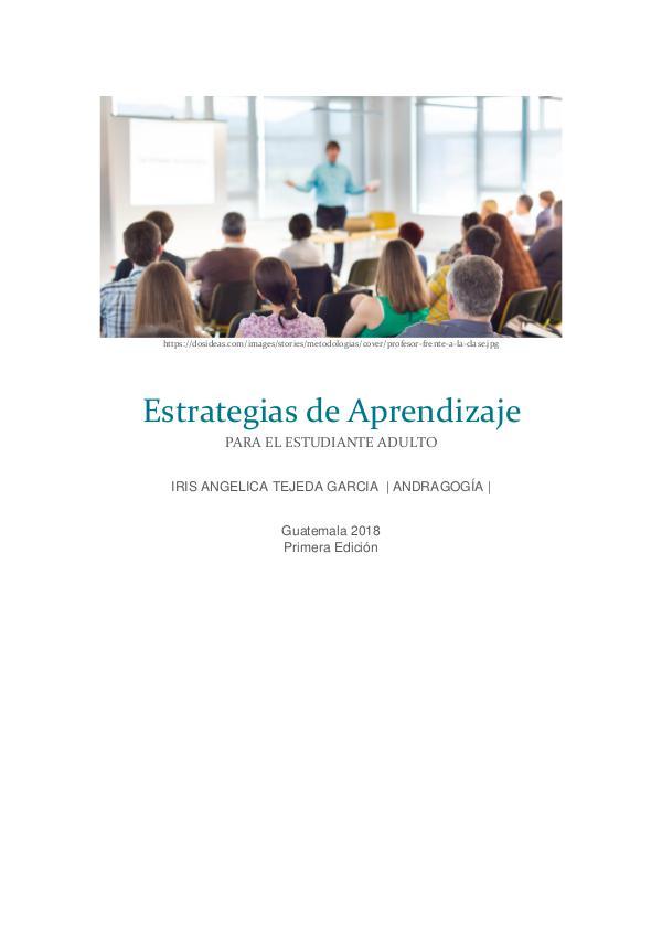 Ebook aprendizaje Adulto libro ESTRATEGIAS DE APRENDIZAJE EN ADULTOS