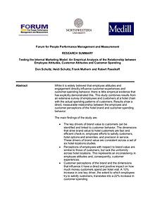 Forum for People Performance Management and Measurement - Hotel Study