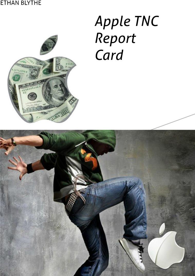 TNC report card - Ethan Blythe TNC report card Apple