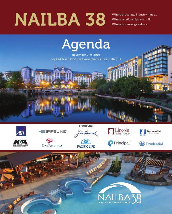 NAILBA 38 Agenda #NAILBA38 Agenda