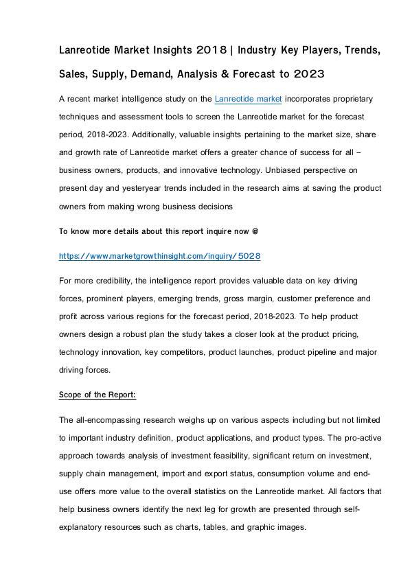 Lanreotide Market Insights