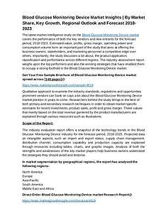 Blood Glucose Monitoring Device market Insights & Forecast 2023