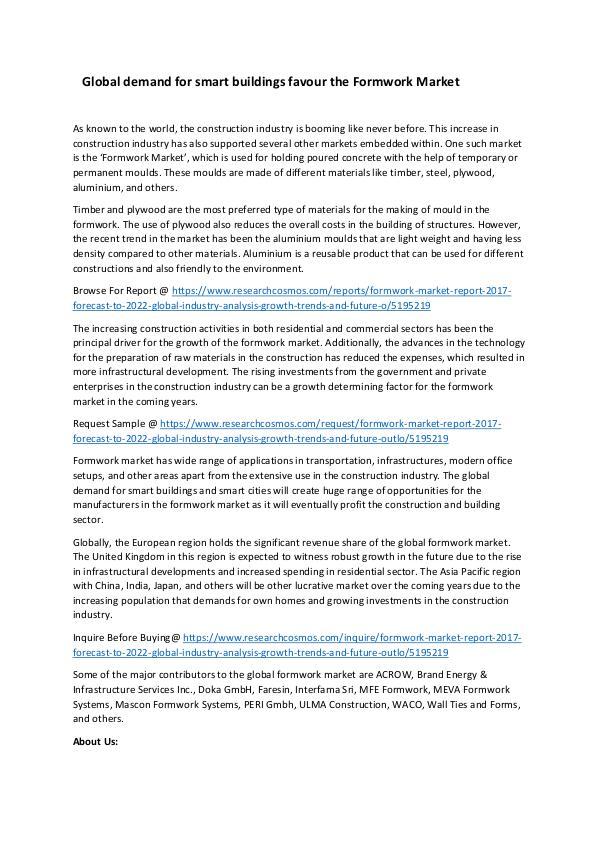 Formwork Market Size Analysis Report 2024 Formwork Market_Promo