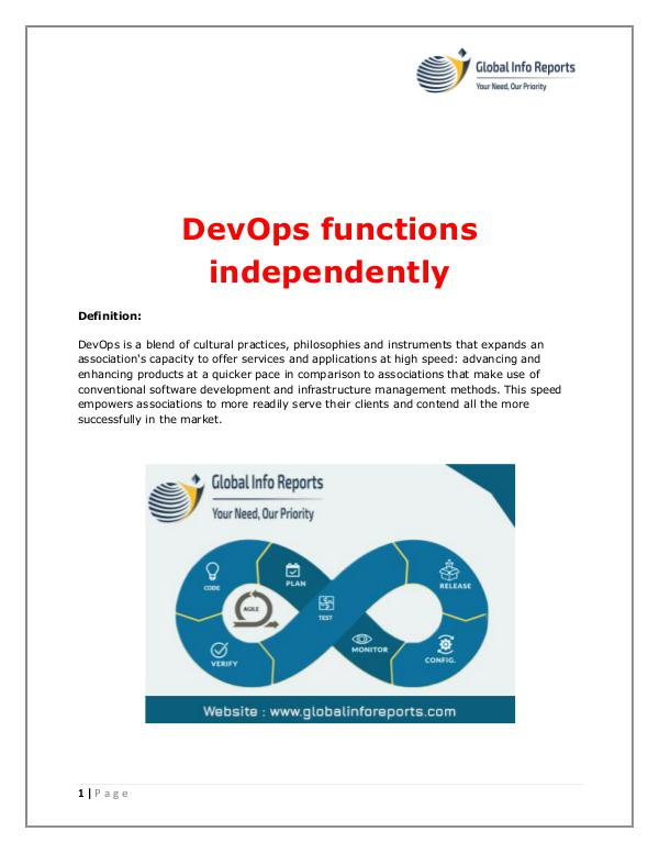Global Info Reports DevOps functions independently