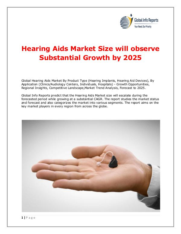 Global Info Reports Hearing Aids Market 2018