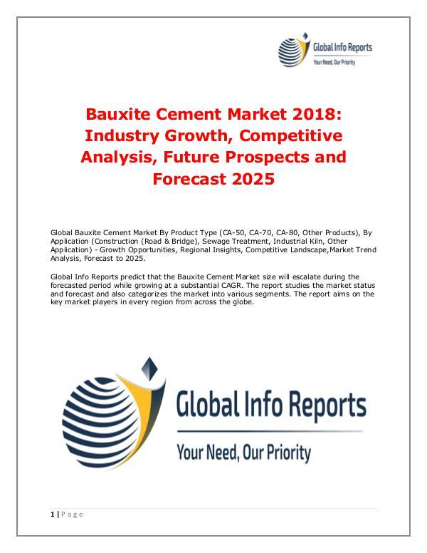Bauxite Cement Market 2018