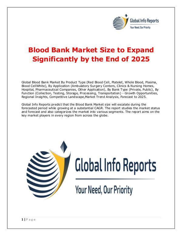 Blood Bank Market 2018