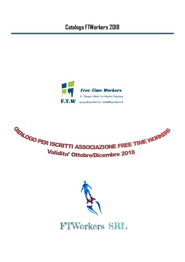 CATALOGO FTWorkers ISCRITTI ASSOCIAZIONE FREE TIME WORKERS Catalogo FTWorkers Iscritti