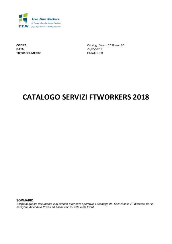 Catalogo Servizi FTWorkers SRL Servizi FTW