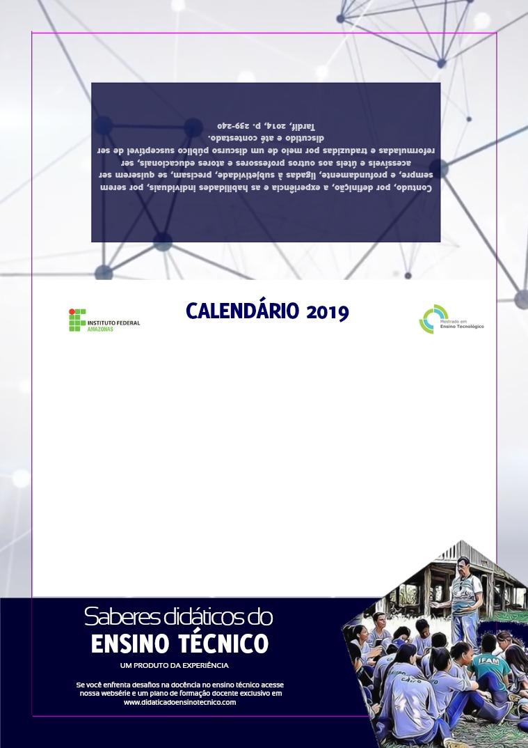 Calendário 2019 CALENDÁRIO 2019