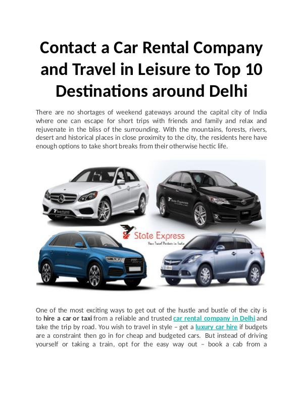 Top 10 Destinations around Delhi Top 10 Destinations around Delhi