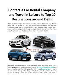 Top 10 Destinations around Delhi