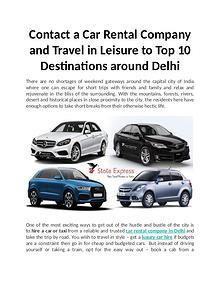 Top 10 Destinations around Delhi