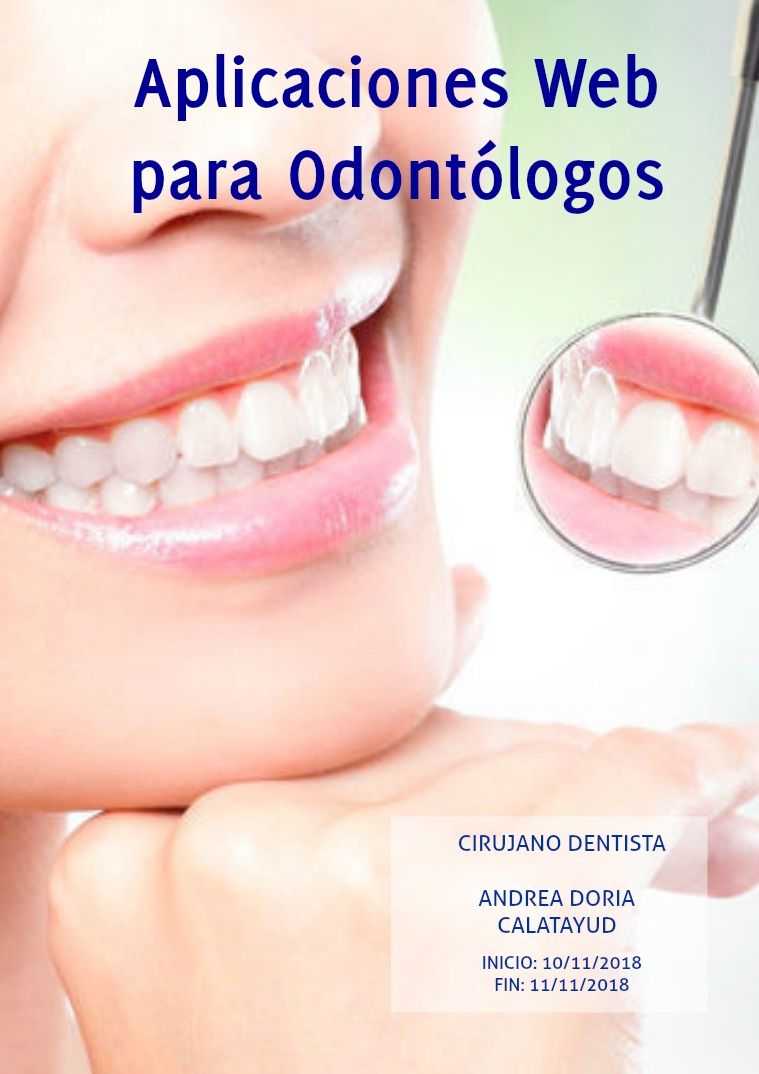 Aplicaciones Web para Odontólogos Noviembre 2018