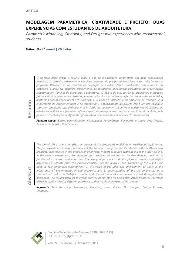 Arquitetura Paramétrica Apostilha modelagem parametrica