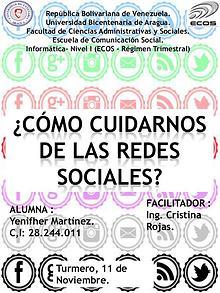 CÓMO CUIDARNOS DE LAS REDES SOCIALES.