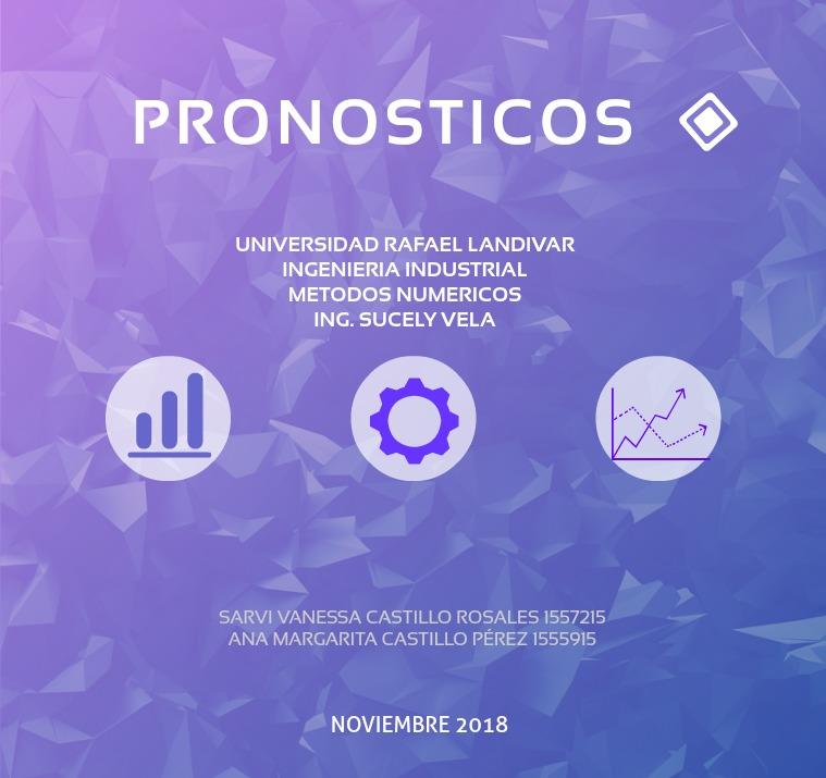 pronosticos modelos de Pronosticación,