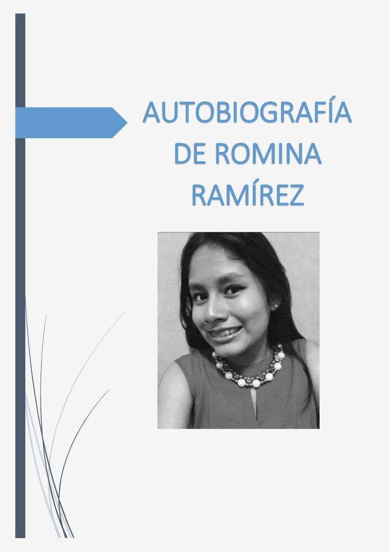 autobiografía Autobiografia de Romina Ramírez