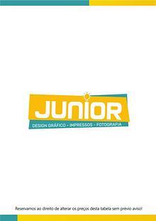 Tabela de Preços - Junior, Design - Impressos - Fotografia
