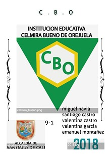 INSTITUCION EDUCATIVA CBO