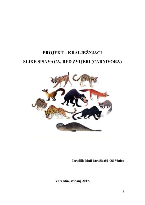 Zvijeri Projekt kralježnjaci - Slike sisavaca