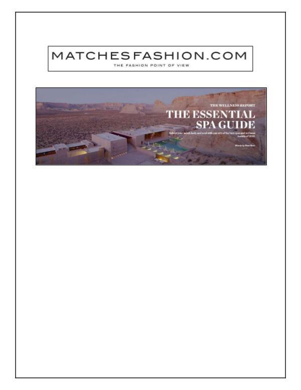 Chablé Spa Matchesfashion.com_