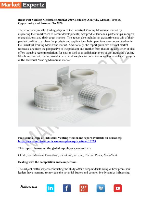 My first Publication Industrial Venting Membrane